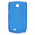 Mesh Protective ABS Back Case for Samsung Galaxy Mini S5570 - Blue