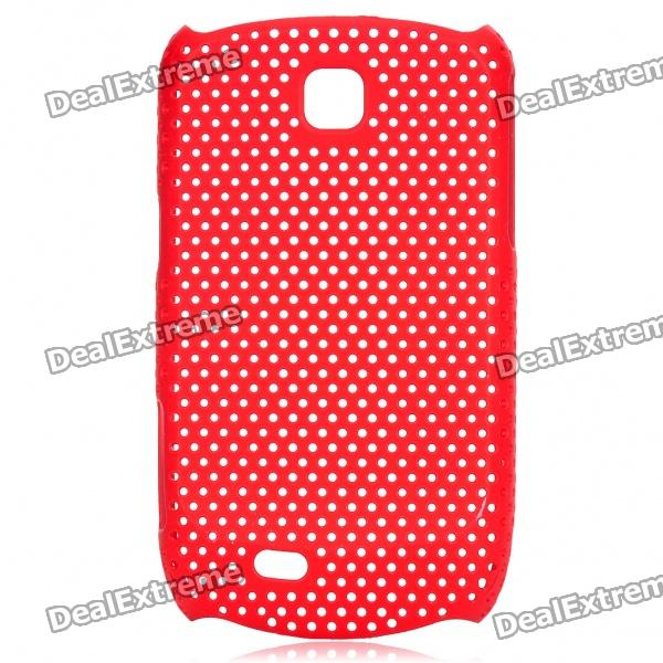 Mesh Protective ABS Back Case for Samsung Galaxy Mini S5570 - Red mesh protective abs back case for samsung galaxy mini s5570 white