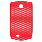 Mesh Protective ABS Back Case for Samsung Galaxy Mini S5570 - Red