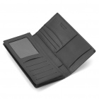 Stylish Folding Leather Wallet for Men - Black