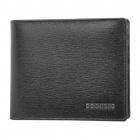 Stylish Folding Leather Wallet - Black