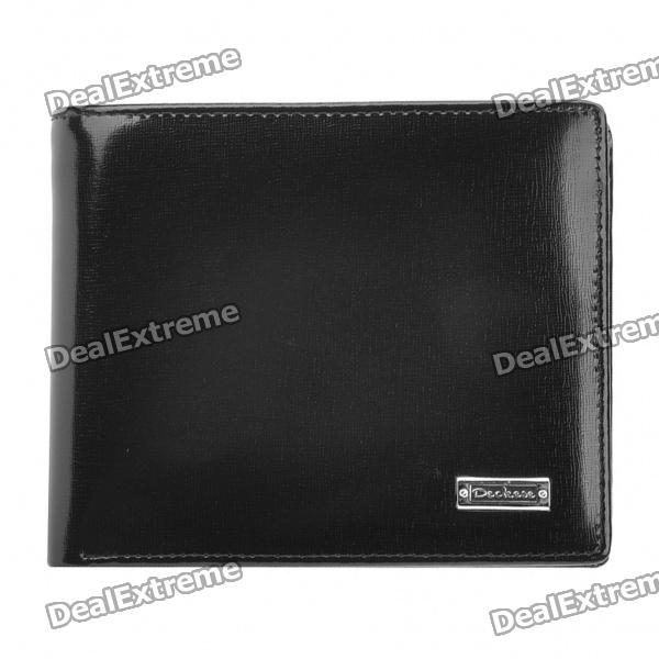 Compact Folding Wallet for Men - Black