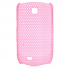 Mesh Protective ABS Back Case for Samsung Galaxy Mini S5570 - Pink
