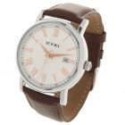 EYKI Stylish Roman Numeral Dial Wrist Watch w/ Calendar - Coffee + White (1 x 626)
