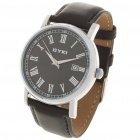 EYKI Stylish Roman Numeral Dial Wrist Watch w/ Calendar - Black (1 x 626)