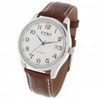EYKI Stylish Self-Winding Mechanical Wrist Watch w/ Calendar - Coffee + White