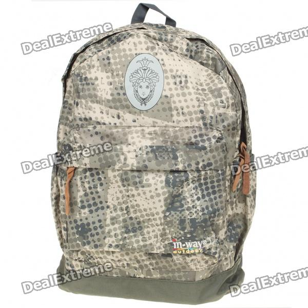 Stylish Water Resistant Backpack Back Bag - Camouflage