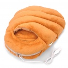 Simulation Bread Loaf USB Heating Feet Warmer Cushion - Brown