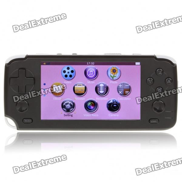 "4,3 ""Touch Screen Spielekonsole Media Player w / 1,3 MP-Kamera / FM / HDMI / TV-Out / TF - Black (4GB)"