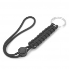 Military Paracord Rope with Keychain - Black
