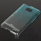 Fashion Protective Water Drop Style Back Case for Samsung i9100 - Transparent Blue