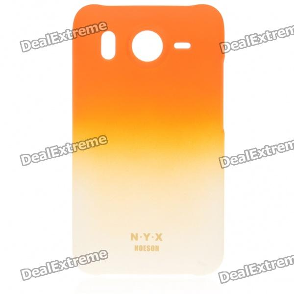 Fashion Protective Matte Frosted PC Back Case for HTC A9191 - Orange matte protective pe back case for htc one x s720e red