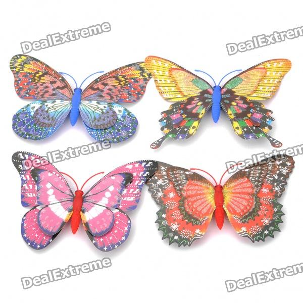 Decorative Beautiful Magnetic Butterfly Fridge Sticker - Random Style/Color (4 Piece Pack) beautiful darkness