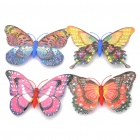 Decorative Beautiful Magnetic Butterfly Fridge Sticker - Random Style/Color (4 Piece Pack)