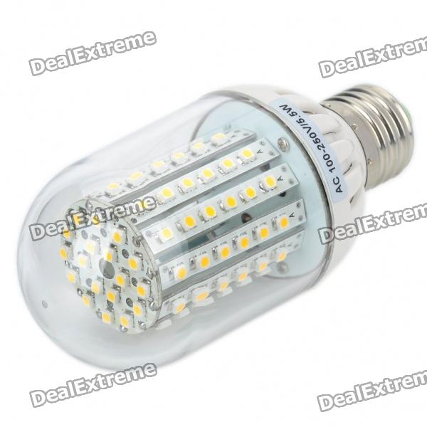 E27 5.5W 90-SMD 3528 LED 500-Lumen Warm White Light Bulbs (AC 100-250V) 0 9m smd 3528 90 leds waterproof led rope light festival lighting