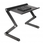 Portable USB Powered Aluminum Alloy Stand Desk for Laptop Notebook - Black