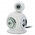 3-in-1 300KP CMOS Camera + Stereo Speaker + MIC (White)