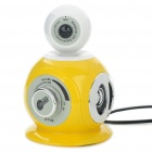 3-in-1 300KP CMOS Camera + Stereo Speaker + MIC (Yellow + White)