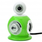 3-in-1 300KP CMOS Camera + Stereo Speaker + MIC (Green + White)
