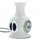 Mini Vase Stil USB Powered Speaker - White