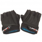 Outdoor Sports Bicycle HS Anti-Slip Half-Finger Gloves - Black (Pair)