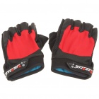 Outdoor Sports Bicycle HS Anti-Slip Half-Finger Gloves - Red (Pair)