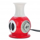 Mini Vase Stil USB Powered Speaker - rot + weiß