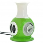 Mini Vase Stil USB Powered Speaker - Grün + Weiß