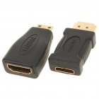 Mini HDMI Male to HDMI Female Adapter + Mini HDMI Female to HDMI Male Adapter Set
