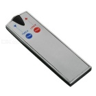2-i-1 Silver Super Bright Red Card Laser med LED-ficklampa