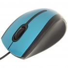 Designer 1200dpi USB Wired Optical Mouse - Blue + Schwarz (140 cm-Kabel)