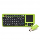 USB Rechargeable Mini 2.4G Wireless 60-Key Keyboard w/ Touchpad & Laser Pointer - Green + Black
