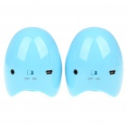 Gleeman Egg Style USB Rechargeable 2 x 2W Speakers - Blue (3.5mm Audio Jacks)