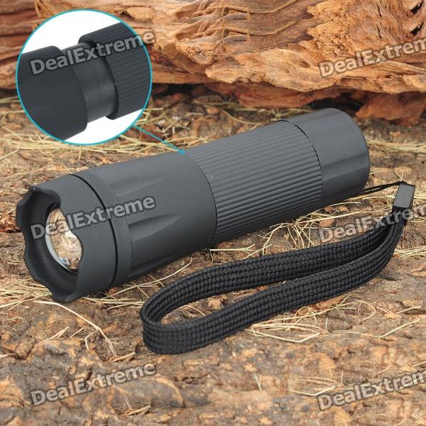 3-Mode 125-Lumen Zoom Convex Lens Osram White LED Flashlight w/ Strap (3 x AAA / 1 x 14500)