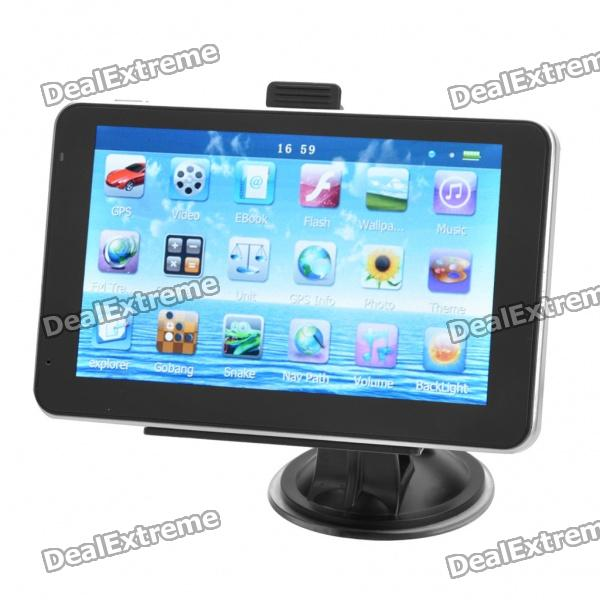 "5"" Touch Screen Windows CE 5.0 Core GPS Navigator w/FM Transmitter + Internal 4GB Italian Maps"