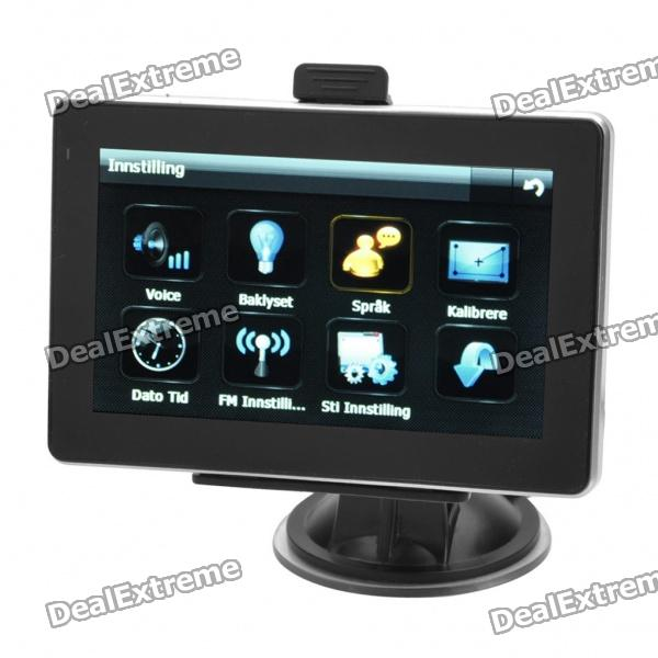 "4.3"" Windows CE 5.0 Core GPS Navigator w/FM Transmitter + Internal 4GB European Maps"