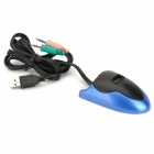 USB 2.0 3-Port HUB w/ Speaker/Microphone Jacks - Blue
