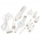 USB Car Cigarette Lighter Power Adapter w/ USB Cables/Adapters for Cell Phone + More (DC 10~30V)