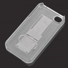 Stylish Foldable Protective Back Case with Dustproof Plug for Iphone 4/4S - Transparent