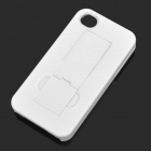 Stylish Foldable Protective Back Case with Dustproof Plug for Iphone 4/4S - White