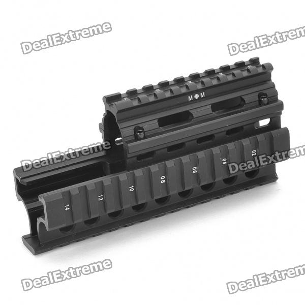 Aluminum Alloy Gun Rail Mount with Wrench for Airsoft AK47 - Black