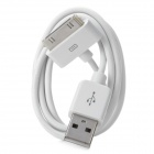 USB Data &amp; Charging Cable for iPhone 4/4S - White (92cm)
