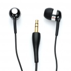 Designer's Stereo Earphone - Black (3.5mm Jack / 136cm-Cable)