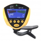 Clip-On Tone Tuner for Chromatic/Guitar/Bass/Violin/Ukulele - Yellow + Black (1xCR2032)
