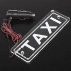 Red LED TAXI Foren Car Cigarette Powered Decorative Light - Transparent Weiß