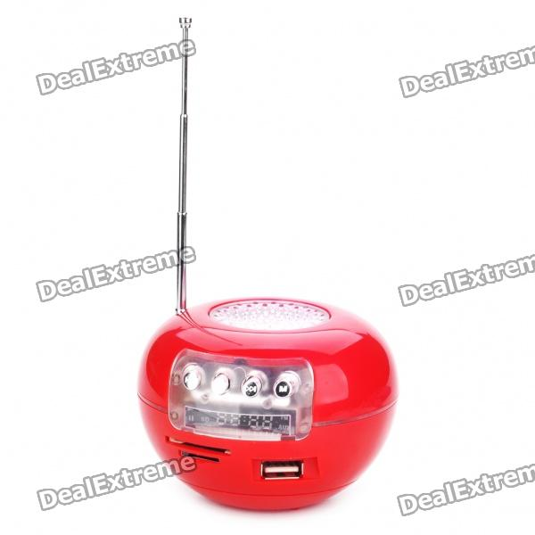 Tragbare Mode Musik Speaker-Player mit FM / USB / SD / TF - Red