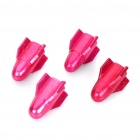Aluminum Alloy Tire Valve Caps - Deep Pink (4-Piece Pack)