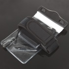Waterproof Bag Case w/ 3.5mm Audio Cable/Strap/Belt for Cell Phone/MP3/MP4 - Black