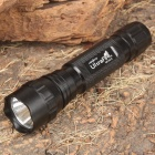 UltraFire WF-501B R2-WC 1-Mode 250LM White LED Flashlight w/ Battery Charger (1 x 18650/2 x 123A)
