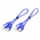 USB Male to Female Extension Cables - Pair (30CM-Length)